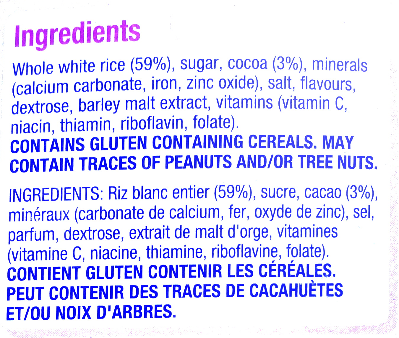 Coco Pops - Kellogg's - 375G - Ingredients - fr