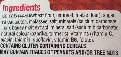 Nutri-Grain - Ingredients