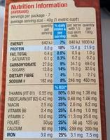 Nutri-Grain - Voedigswaarden