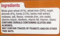 All bran honey almond - Ingredients - en