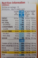 All bran honey almond - Nutrition facts - en