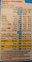 Rice bubbles - Nutrition facts