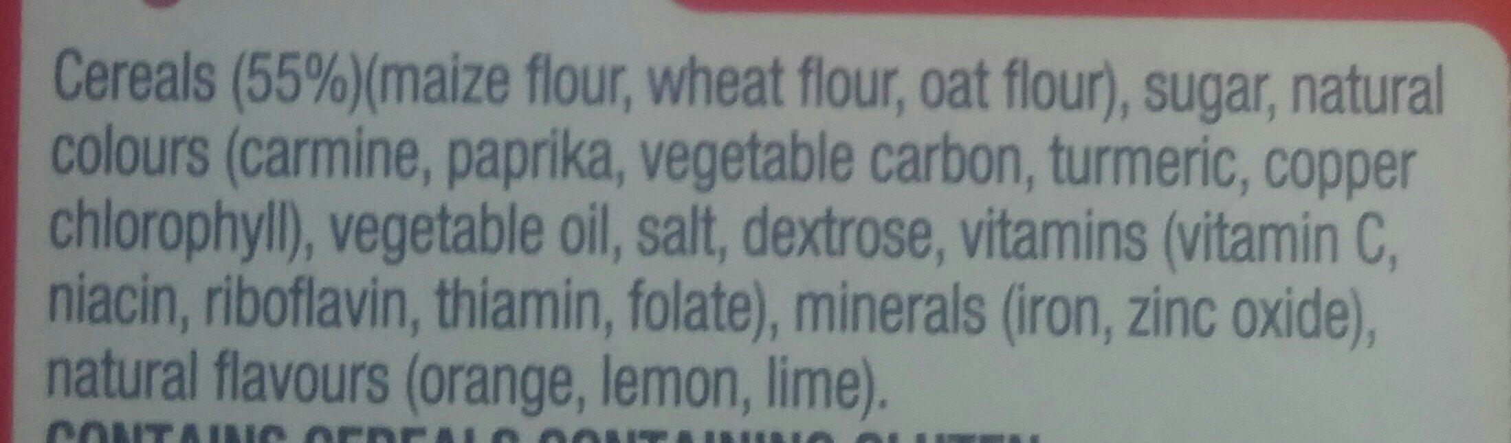 Kellogg's Fruit Loops 500G - Ingredients