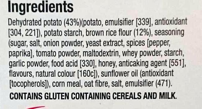 Special K Cracker Crisps Honey Barbeque - Ingredients - en