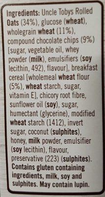 Chewy White Choc Chip - Ingredients - en