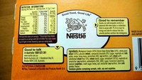 chewy choc chip 12 bar value pack - Nutrition facts