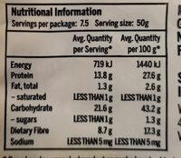 Whole Green Lentils - Nutrition facts - en