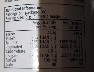 Baking Powder - Nutrition facts - en