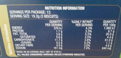 Sesame Wheat - Nutrition facts - en