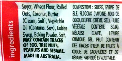 Butternut snap cookie - Ingredients