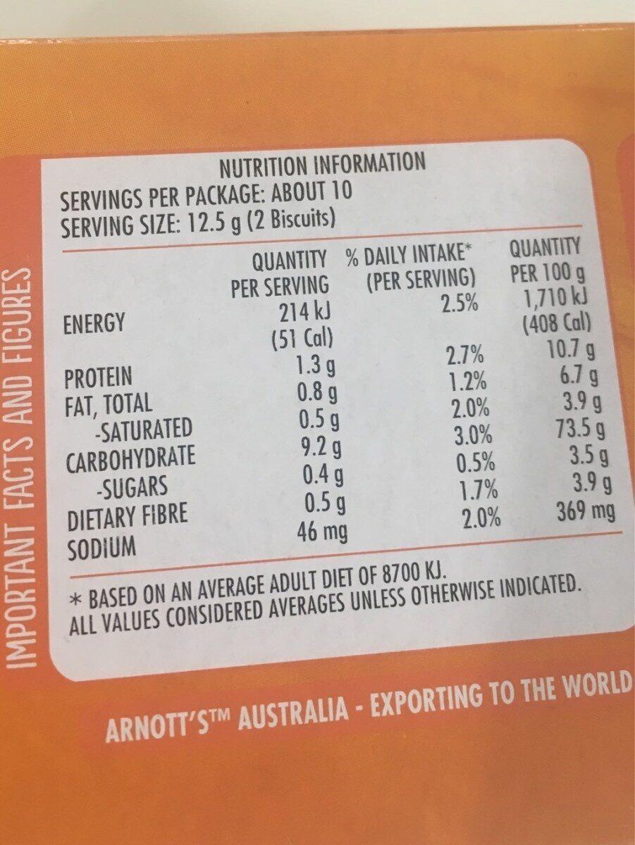 Cruskits Crispbread Original - Nutrition facts - fr