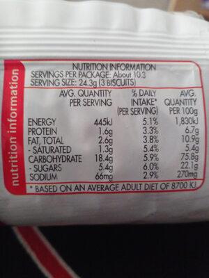 Milk Arrowroot - Voedingswaarden - fr