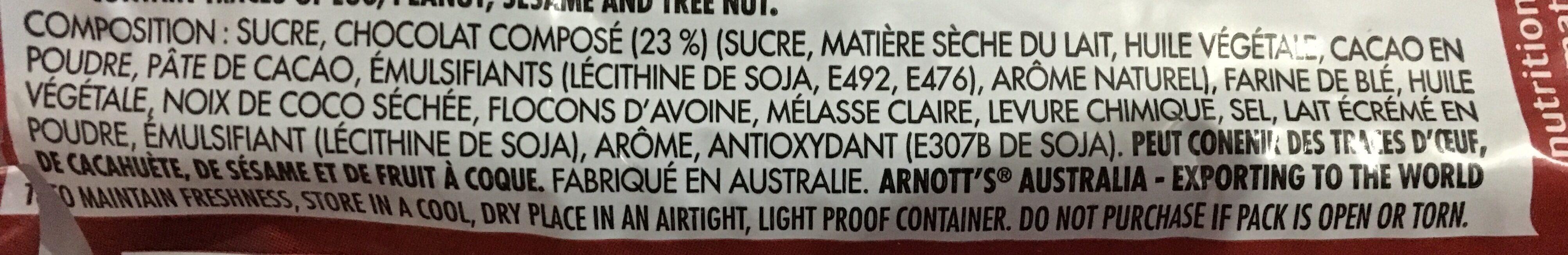 Arnott's Kingston Biscuits 200G - Ingrédients - fr