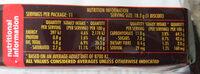 Arnotts Tim Tam Biscuit Dark Chocolate - Nutrition facts - en