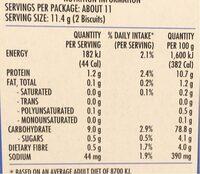 Cruskits Light - Nutrition facts - en
