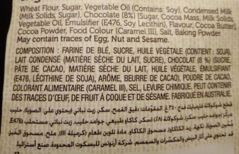 Farmbake Cookies Chocolate Chip Fudge - Ingredients