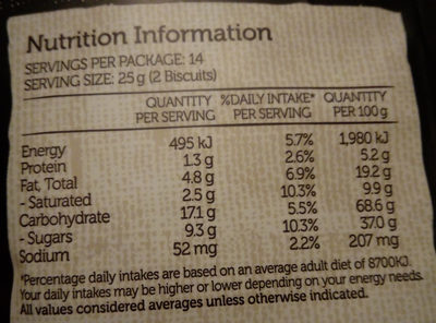 Farmbake Cookies Chocolate Chip Fudge - Nutrition facts - en