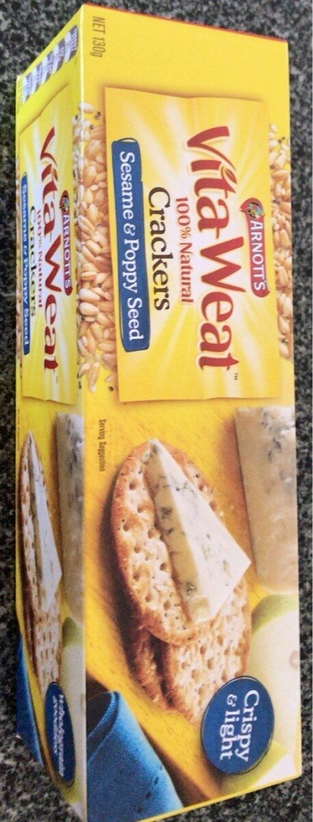 Vita-weat 100% natural crackers sesame and poppy seed - Prodotto - en
