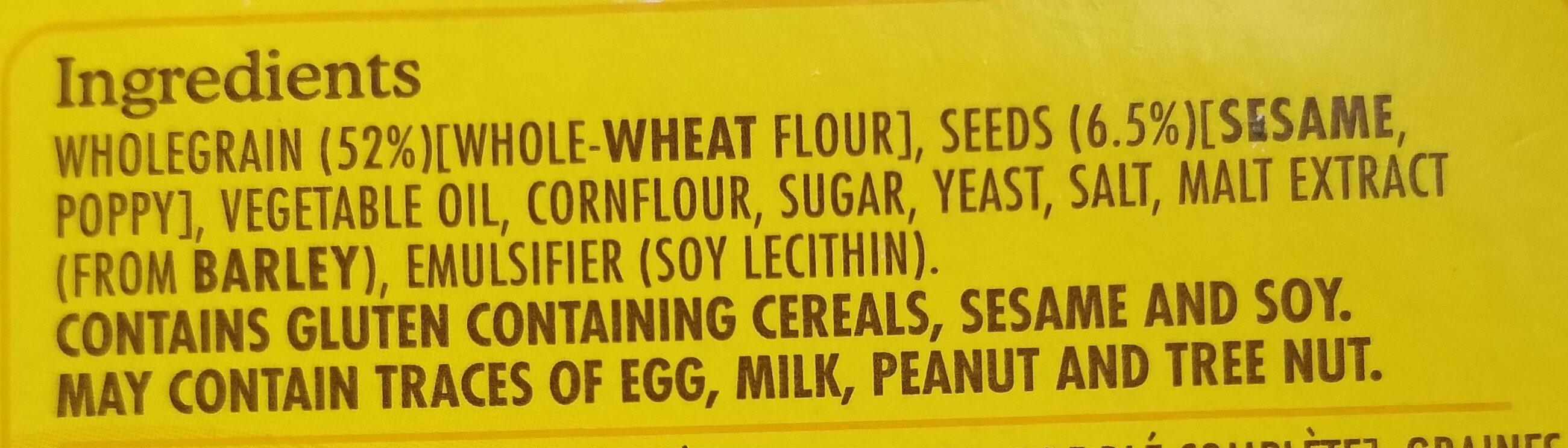 Vita-weat 100% natural crackers sesame and poppy seed - Ingredienti - en