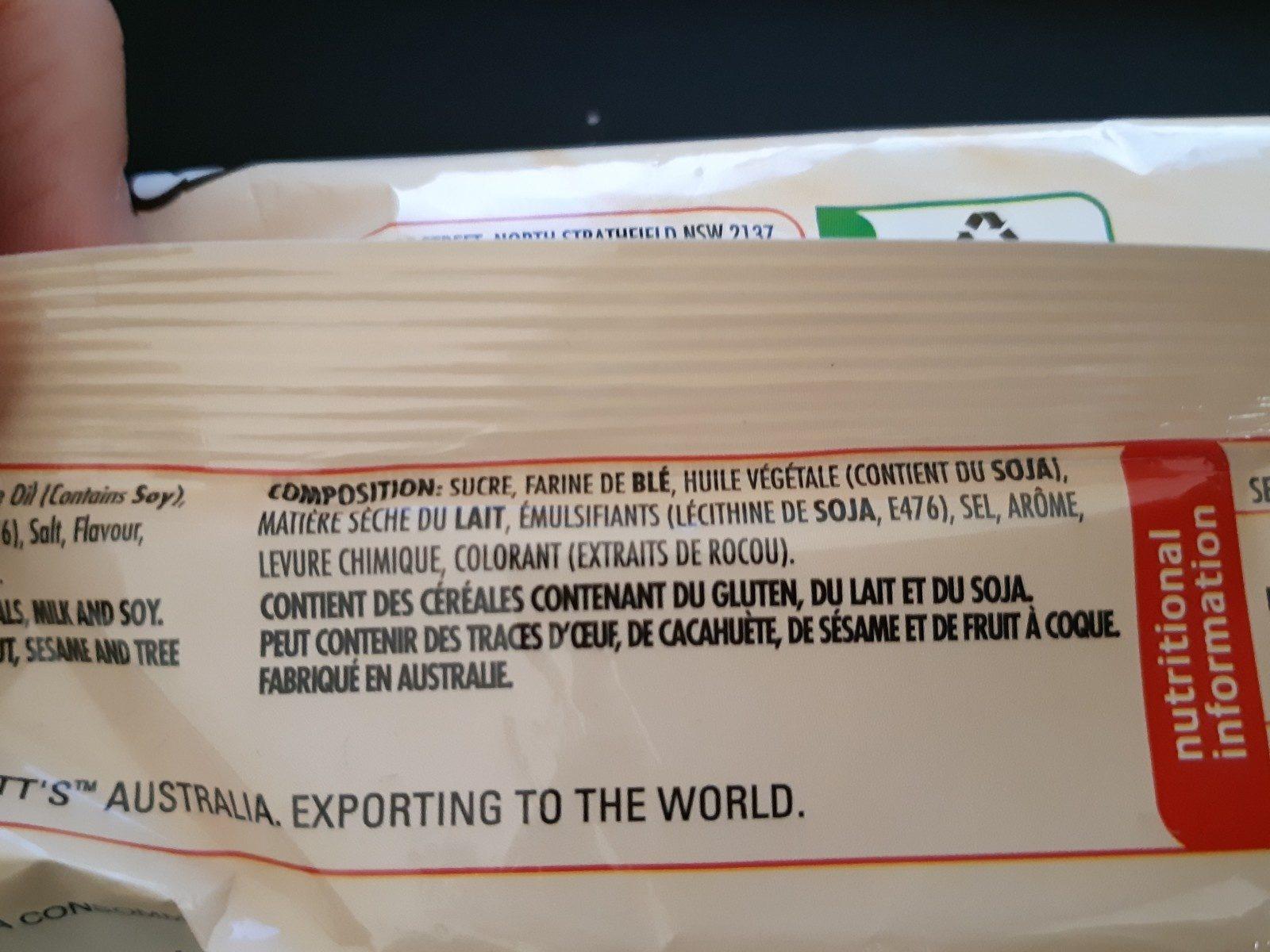 TimTam White - Ingrediënten - fr