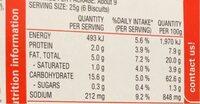 Savoy original - Nutrition facts - en