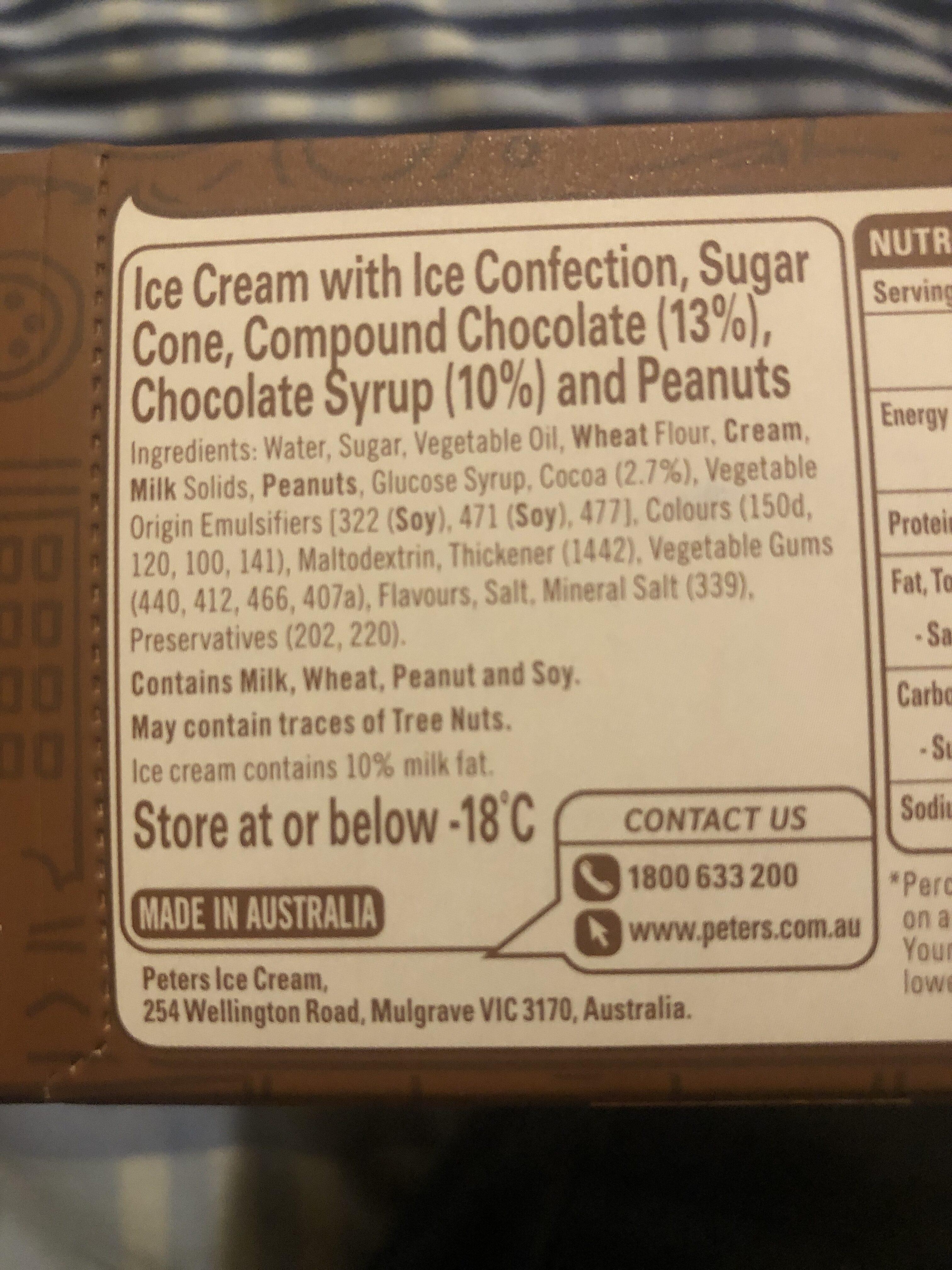 Peters Drumstick Super Chocolate - Ingredients - en