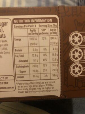 Peters Drumstick Super Chocolate - Nutrition facts - en