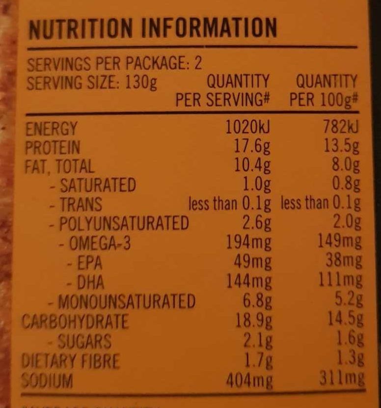 Deli New Zealand Hoki - Nutrition facts - en