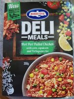 Birds Eye Deli Choices Peri Peri Pulled Chicken with Corn, Capscicum and Portuguese Rice - Product - en