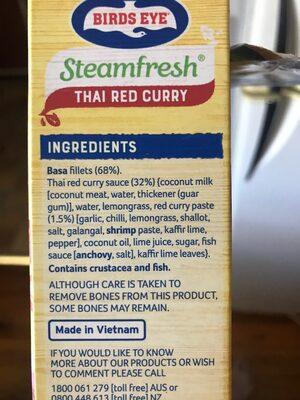 Steamfresh Thai Ted Curry - Ingredients - en