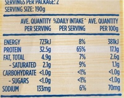 Steamfresh Thai Ted Curry - Nutrition facts - en