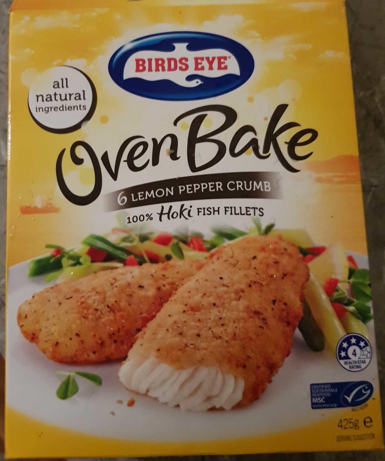 Oven Bake 6 Lemon Pepper Crumb 100% Fish Fillets - Produit - en