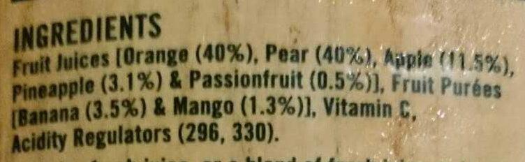Breakfast Juice - Ingredients - en