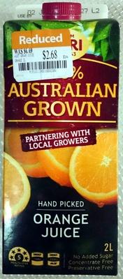 100% Australian Grown Hand Picked Orange Juice - Product - en