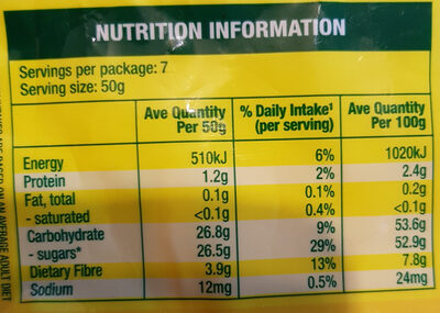 Fruit Medley - Nutrition facts - en