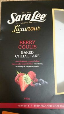 Berry Coulis Baked Cheesecake - Product