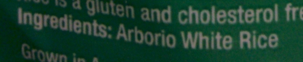 Arborio Risotto Rice - Ingredients - en
