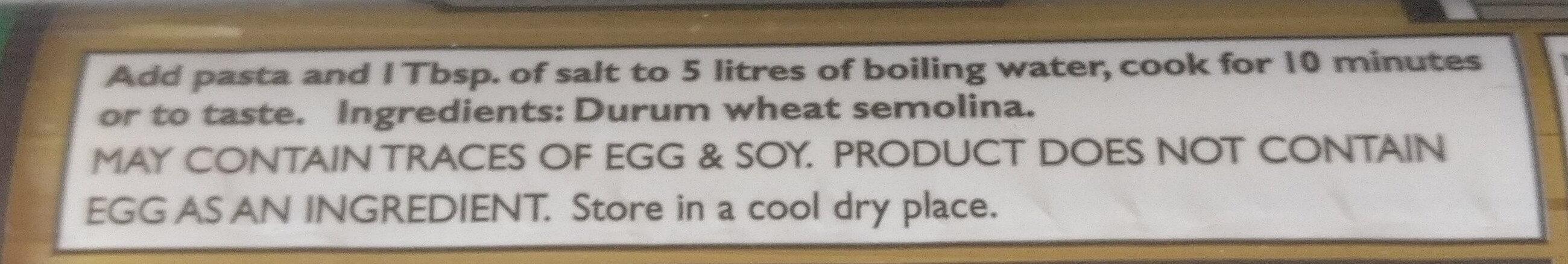 Linguine No. 1 - Ingredients - en