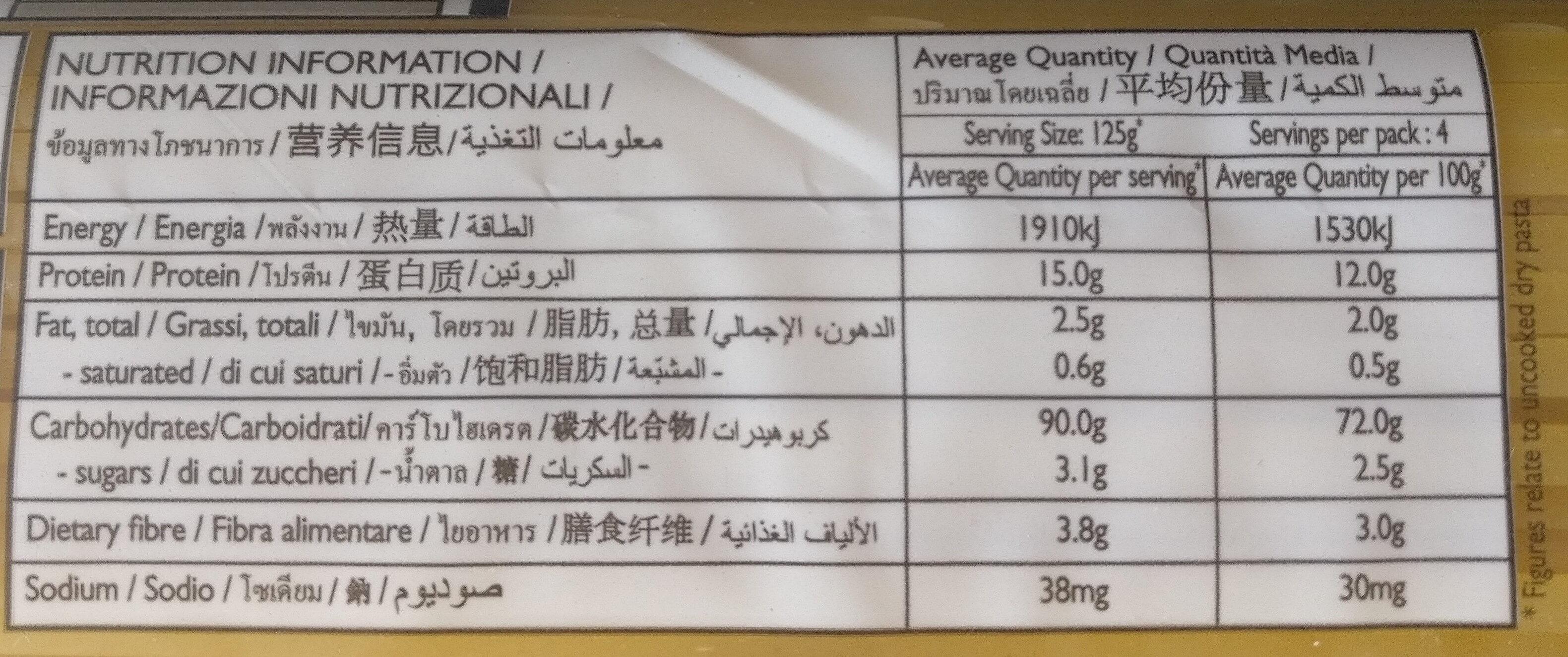 Linguine No. 1 - Nutrition facts - en