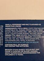Choc Bars - Ingredients - en