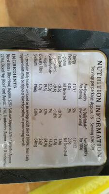 sunbeam gourmet selection mixed fruit - Nutrition facts - en