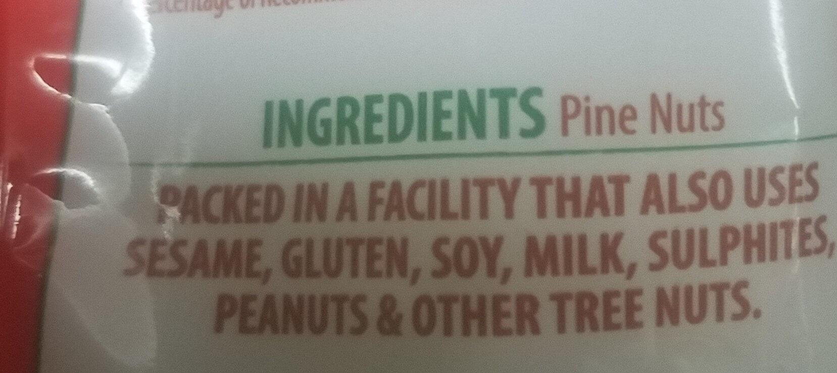 Value Pack Premium Pine Nuts - Ingredients