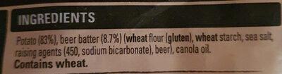 Beer batter chips shoestring - Ingredients - en