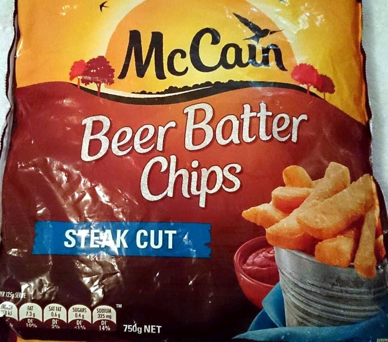 Beer Batter Chips - Steak Cut - McCain - 750g