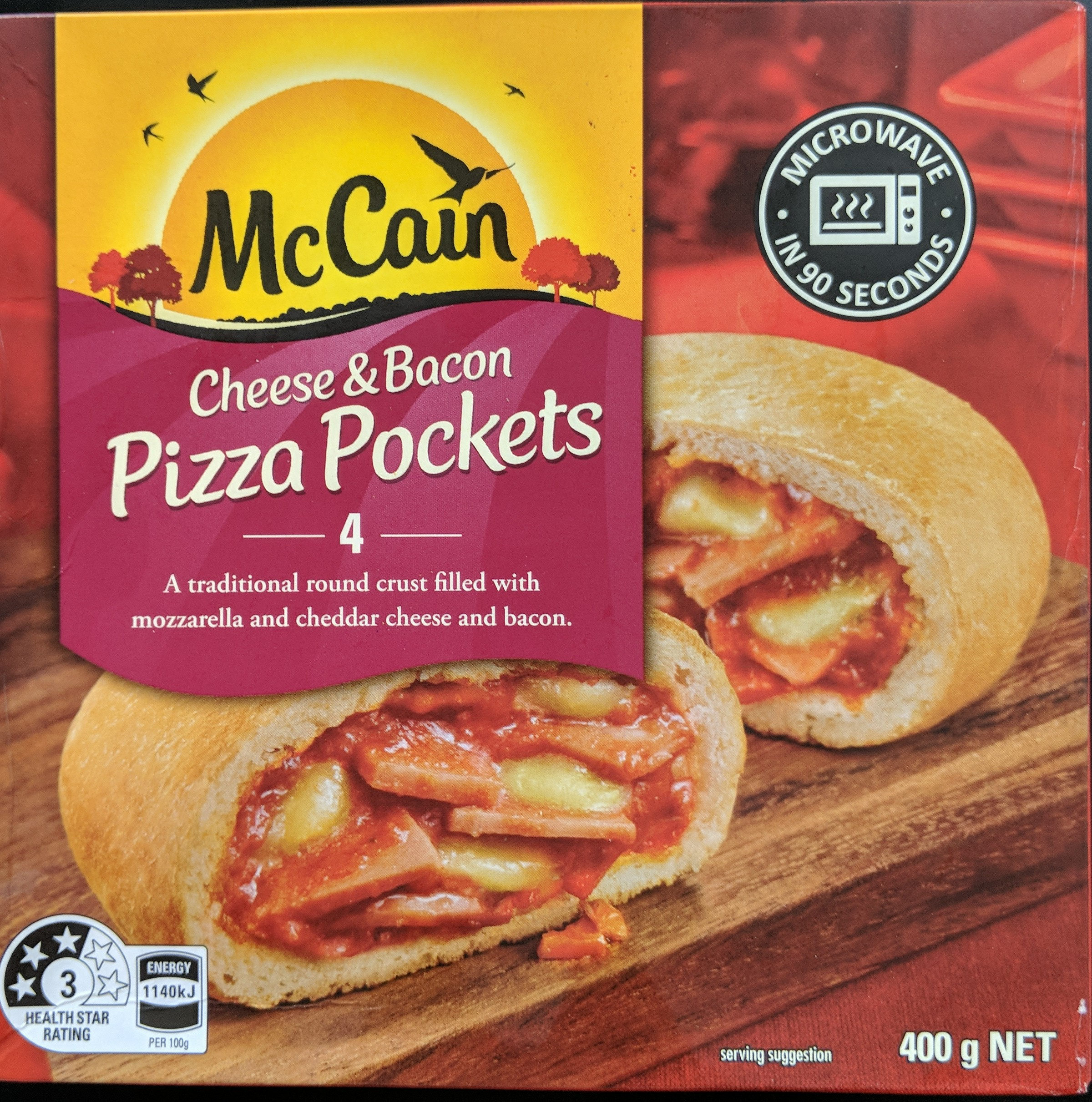 Cheese & Bacon Pizza Pockets - Product - en