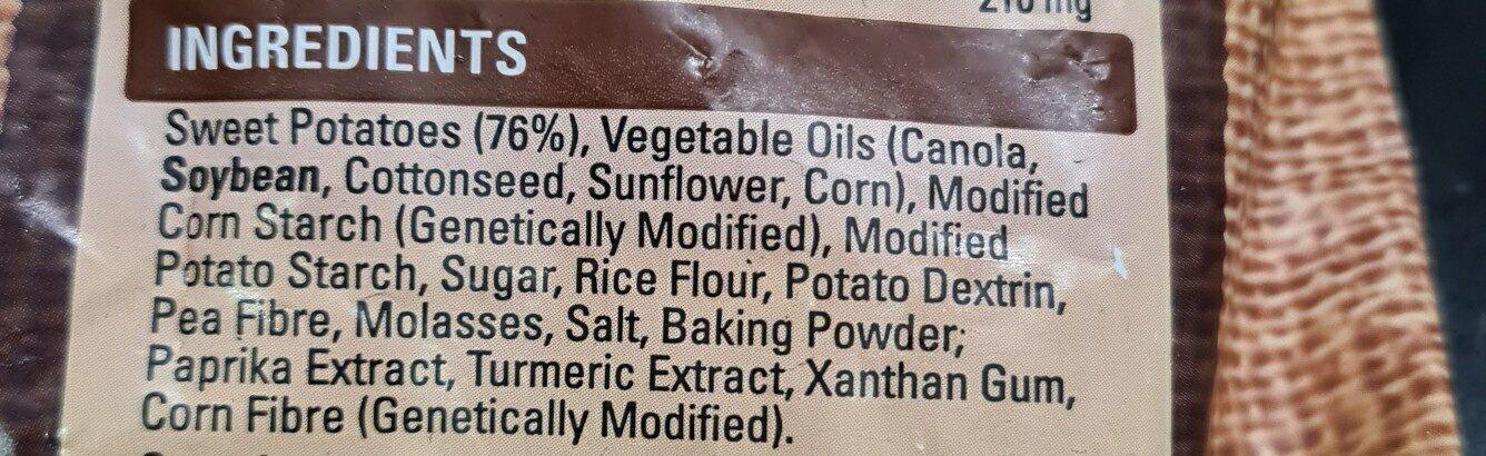 sweet potato cross trax - Ingredients - en