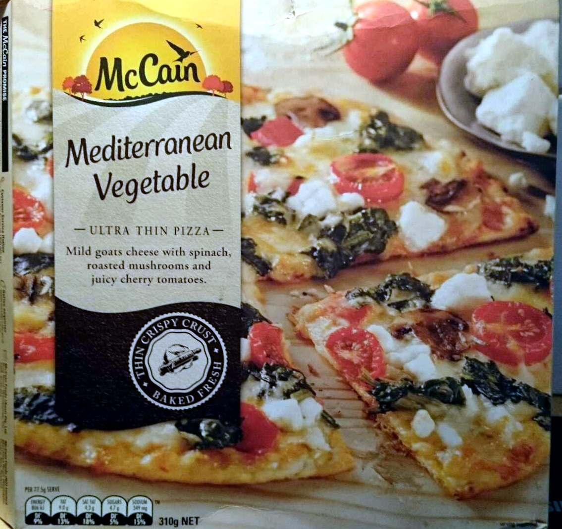 Mediterranean Vegetable Ultra Thin Pizza - Product - en