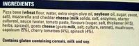 Mediterranean Vegetable Ultra Thin Pizza - Ingredients - en