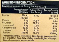 Mediterranean Vegetable Ultra Thin Pizza - Nutrition facts - en