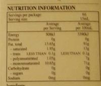 Moro Light Taste Olive Oil - Nutrition facts